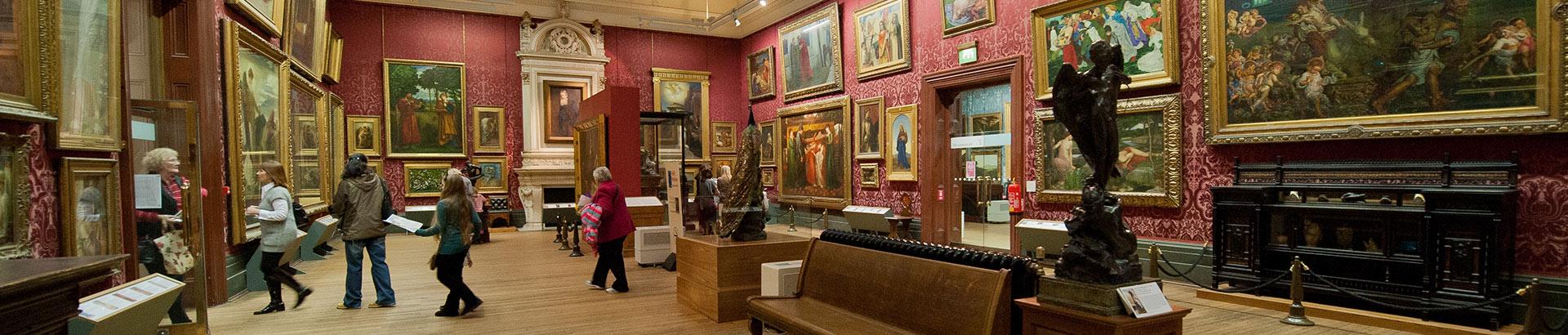 Interior of a museum