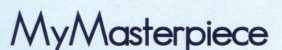 Logo with the word MyMasterpiece in bold letters